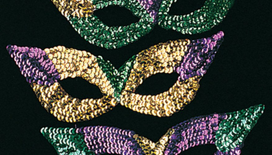 Masks are a must for Mardi Gras.