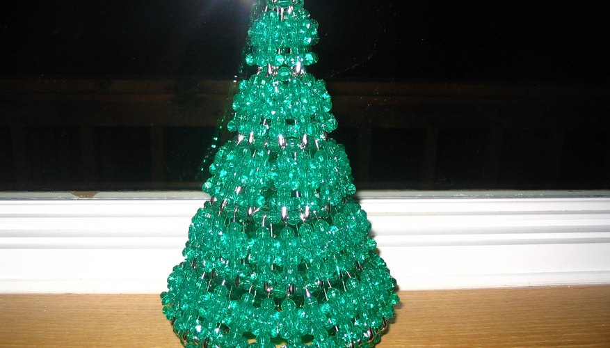 How To Make Safety Pin And Bead Christmas Trees Garden Guides