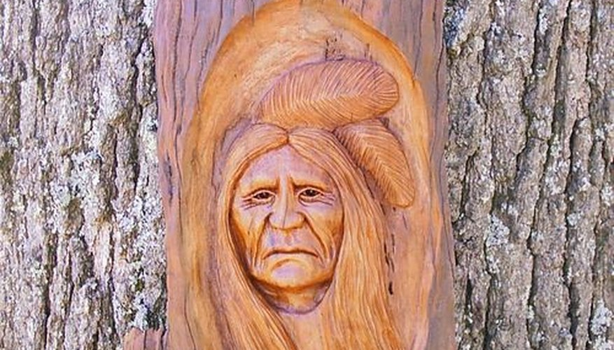 Gordon's Native American Tree Carving
