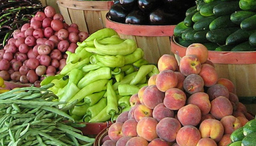 Farmers' markets often offer organic vegetables and fruits