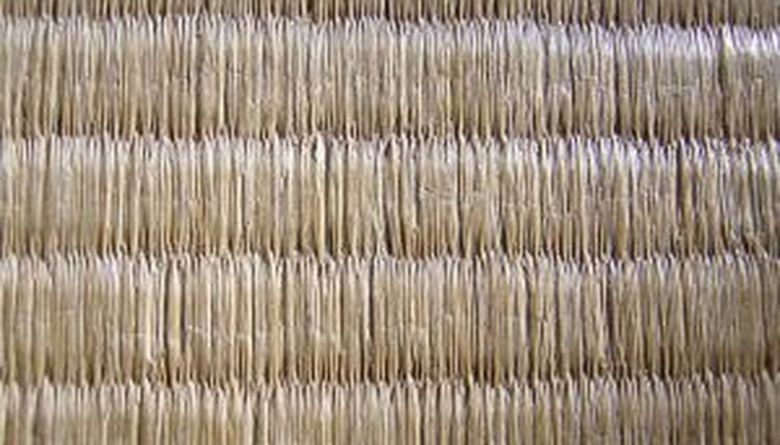 Japanese tatami mats are woven from soft rush.