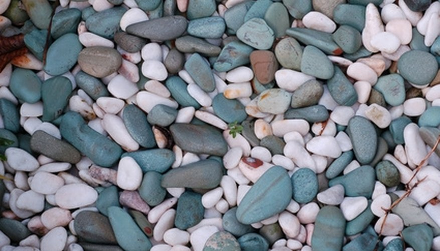 Decorative stones can be used as an aggregate for concrete.
