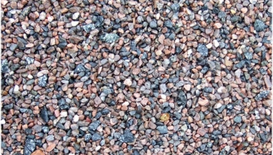 Pea gravel consists of small stones and rocks.