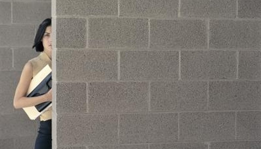 Solid concrete blocks make very sturdy and durable walls.