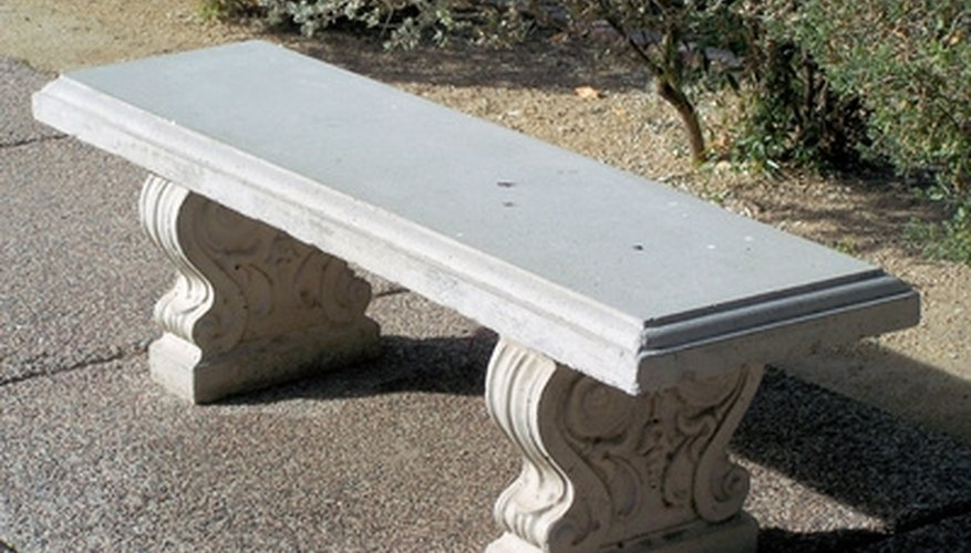 Concrete yard furniture is a durable and inexpensive to make.