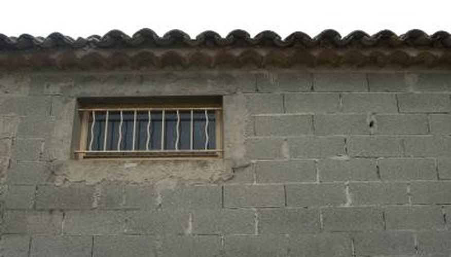 Improve the appearance of a concrete wall.