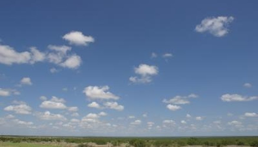 Big sky and flat, windswept, dry prairie dominates the Texas Panhandle.
