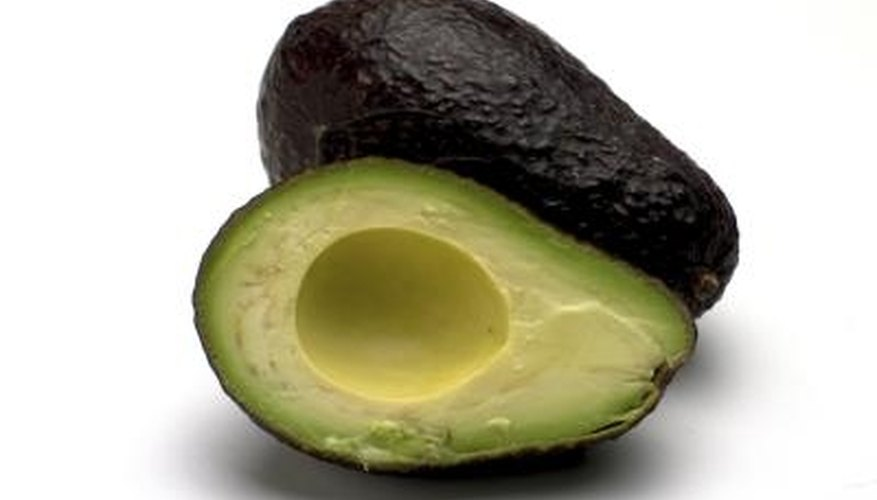 Avocados sometimes turn darker green, black or even deep purple when mature.
