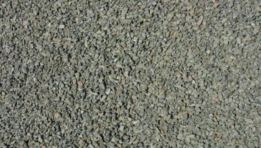 Crushed stone is usually a mix of limestone, dolomite, granite, and traprock.