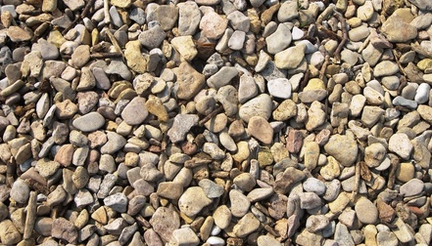 Pebbles add interest to a landscape design.