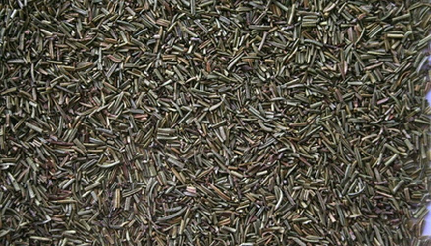 Rosemary deters insects from invading your garden.