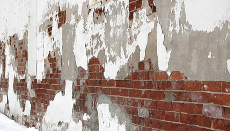 Stucco can be applied to concrete, block and brick exteriors.