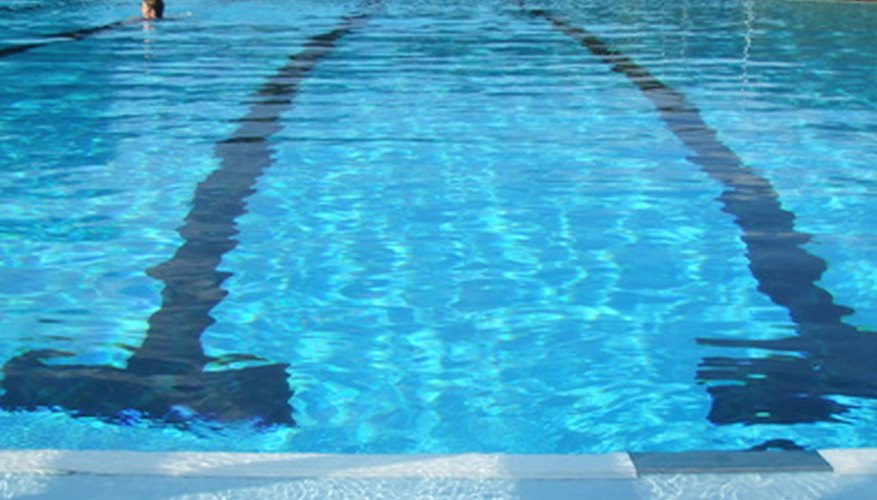 Swimming pools have a main drain on their bottom that sends water to a filter to be cleaned.