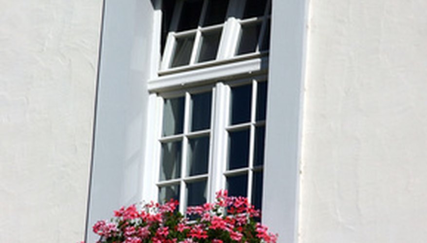 Plants in sunny window boxes must tolerate reflected heat and light.