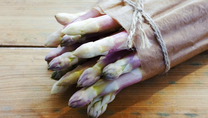 White asparagus is simply green asparagus deprived of light during spear formation.