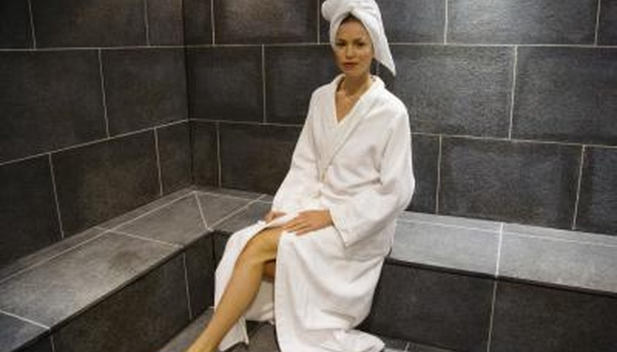 Tile is one possible alternative to a concrete sauna floor.