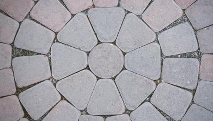 Paver patios provide a solid surface for furniture.