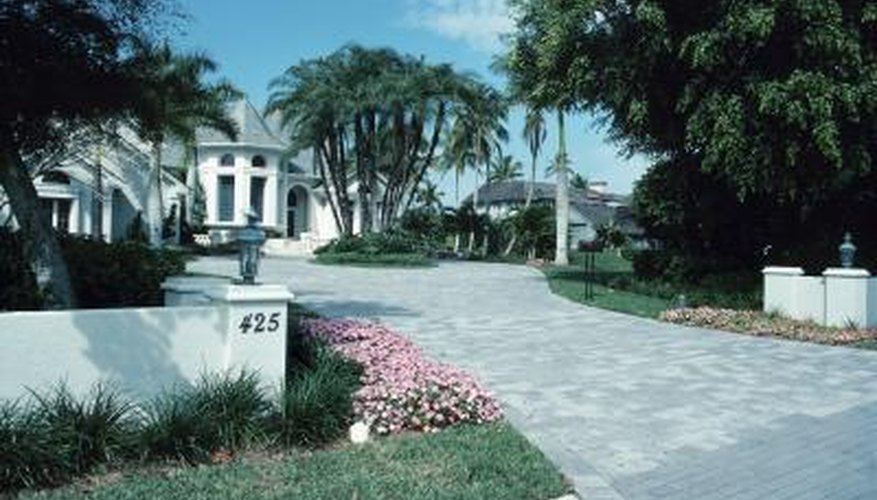 Paving blocks form a sturdy, attractive driveway.