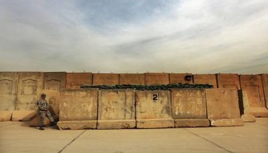 A series of T-Walls in Iraq became impromptu memorials for fallen soldiers during the war.