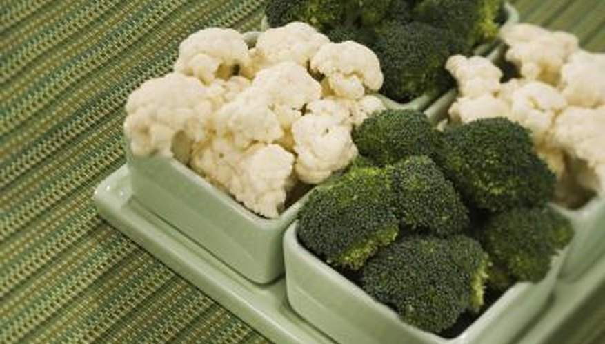 Insects eat broccoli and cauliflower in gardens.
