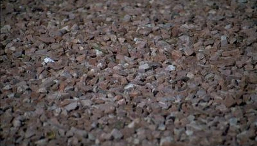 Pea gravel is a relatively inexpensive small stone produced regionally.