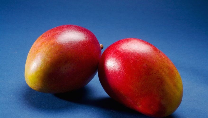 Commercial mangoes may be chemically treated to give them an attractive color.