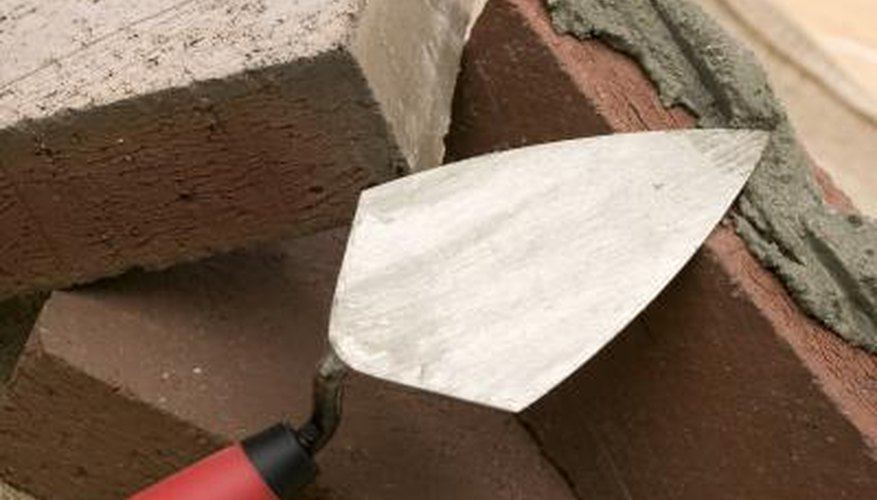 Mortar mixtures are used to bind bricks together.