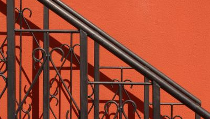 Iron railings provide beauty and safety.