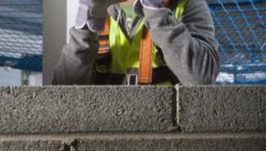 Surface-bonding cement eliminates the need for mortared joints.
