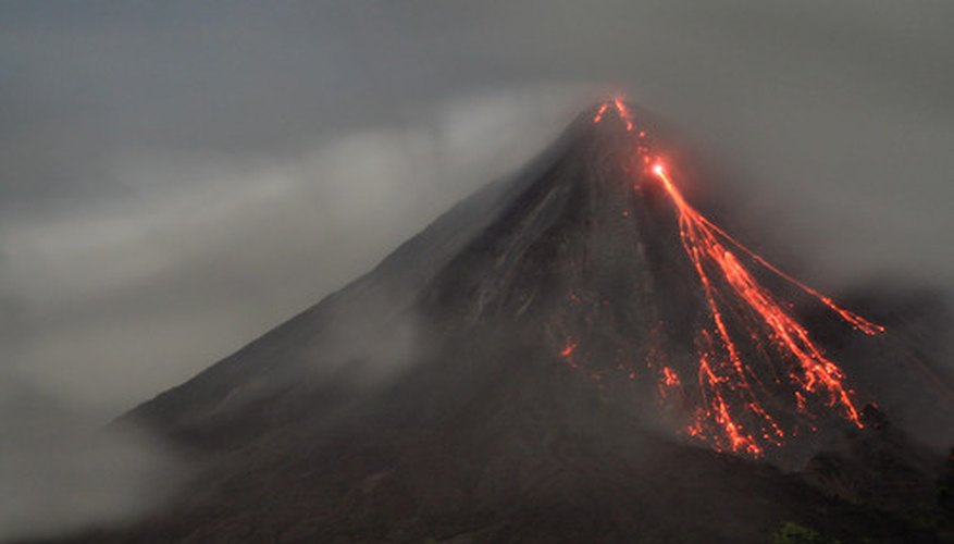 research papers on volcano