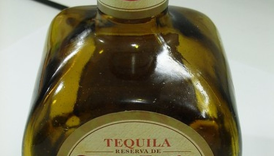 A bottle of tequila
