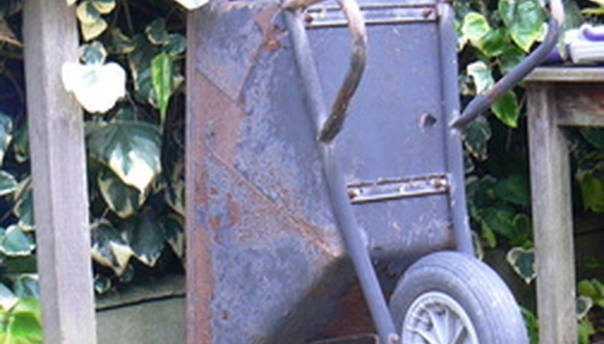 A wheelbarrow can be used to transport plants, supplies and debris.