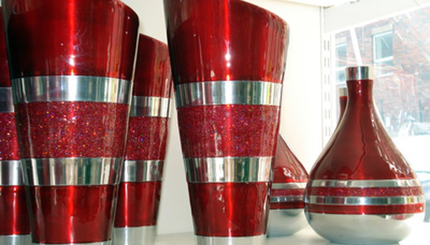 Tall red vases