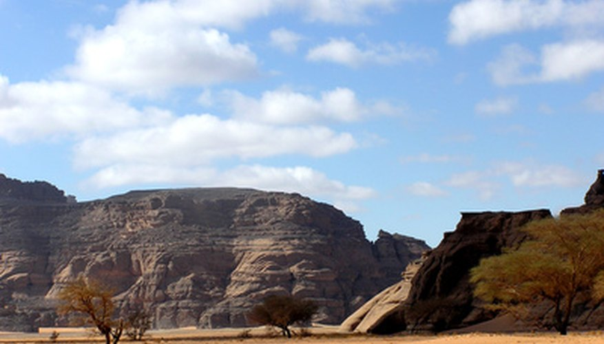 The inland valleys of Libya--transitioning from the sea to the desert.