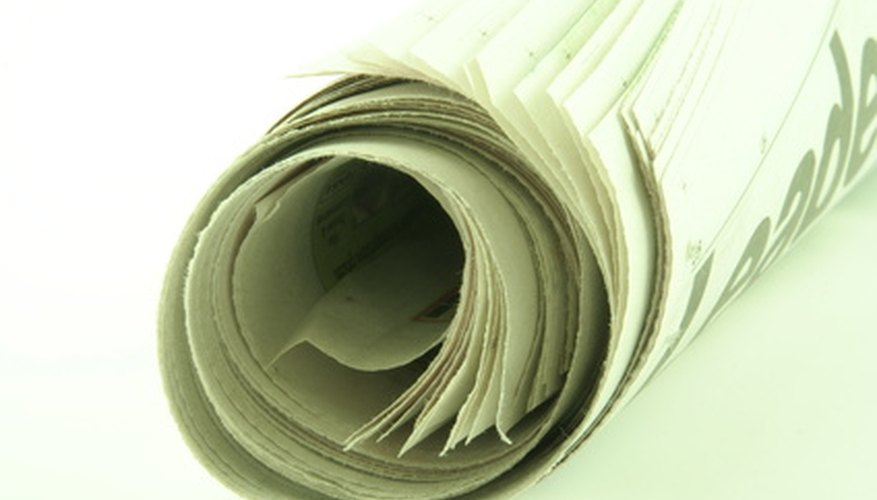 Convert paper products, like newspaper, into compost.