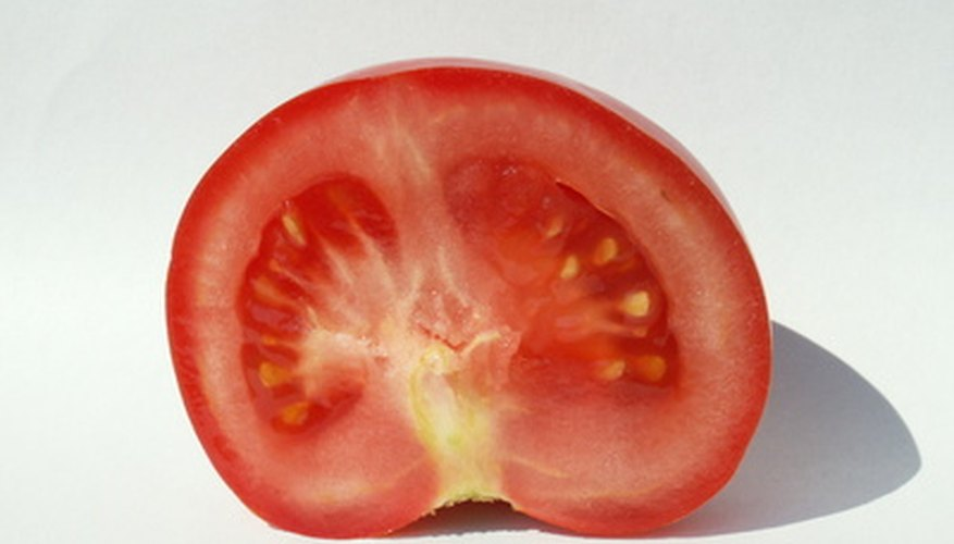 The tomato's inner filling contains tomato seeds.