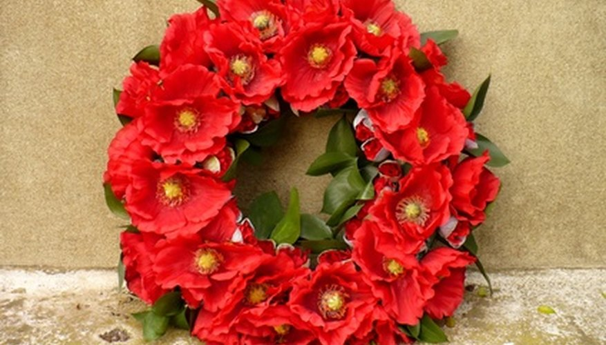 Memorial wreaths can be personalized to meet your needs.