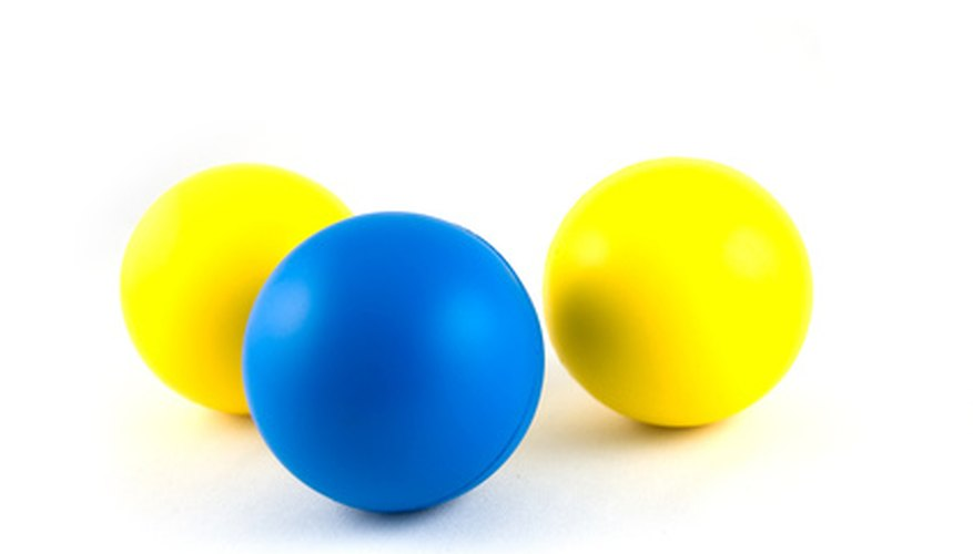 The elasticity of the rubber is key to a ball's bounciness.
