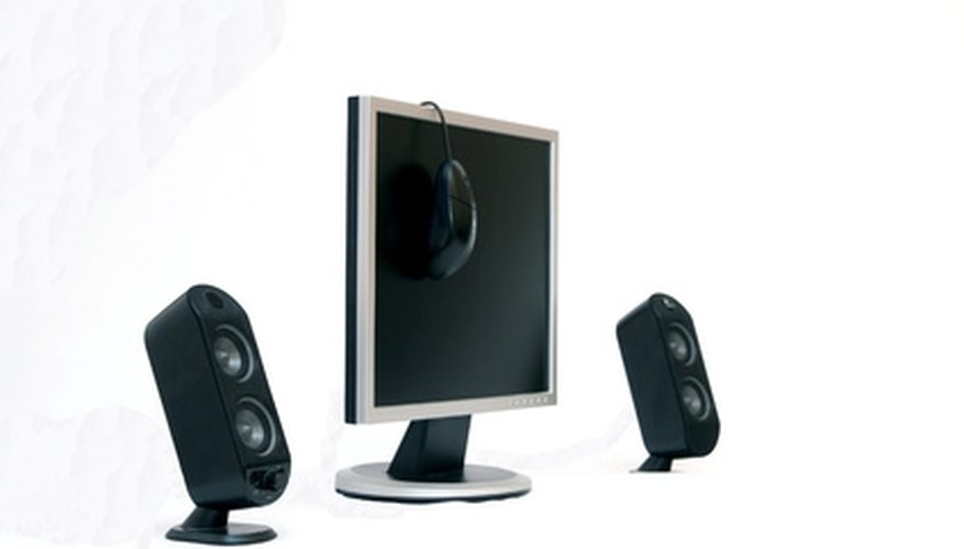 Without shielding, magnets in these speakers would interfere with the monitor.
