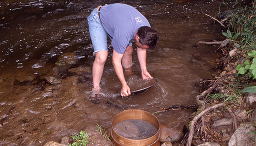 Panning for gold is a fun and rewarding hobby.