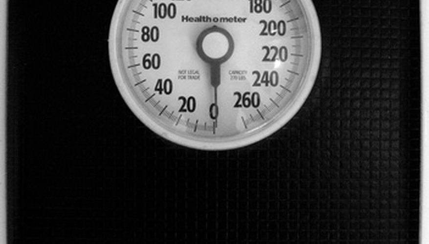 You can find your weight using a scale.
