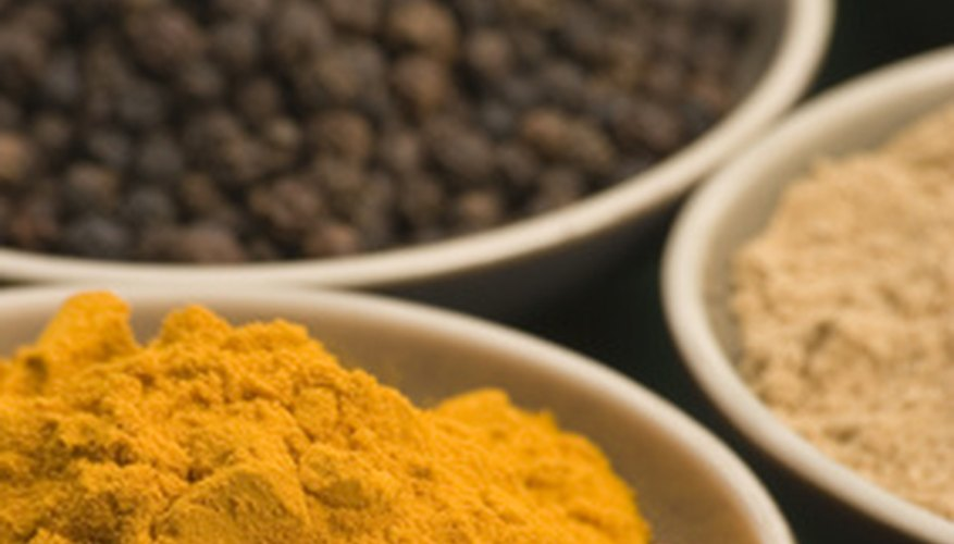 Turmeric is ground into a powder and used in many Indian dishes.