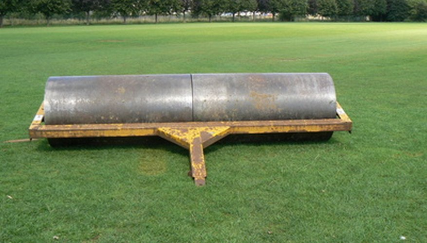 A large lawn roller