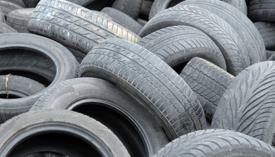 Rubber mulch comes from shredding used tires.