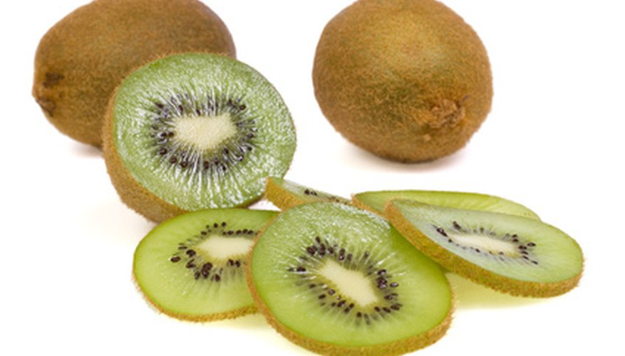 Ripe kiwifruits