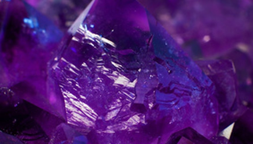 Amethysts are quartz crystals colored with iron impurities.