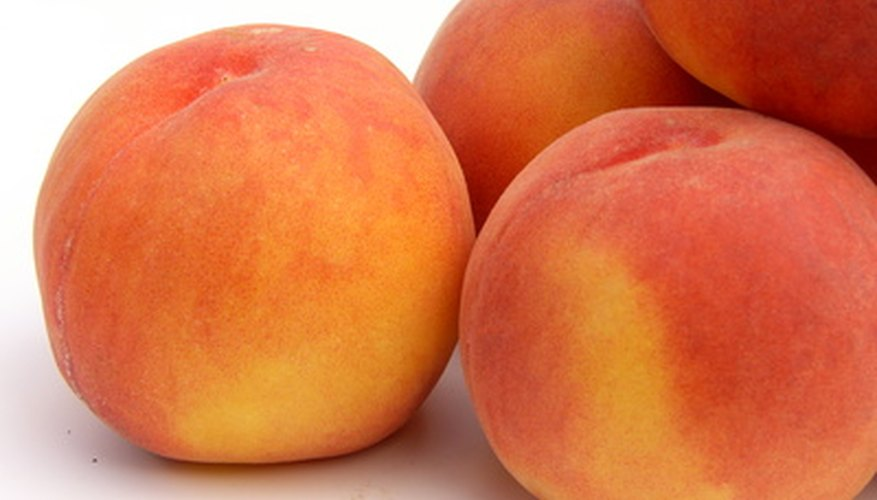 Peaches grow well in Oklahoma.