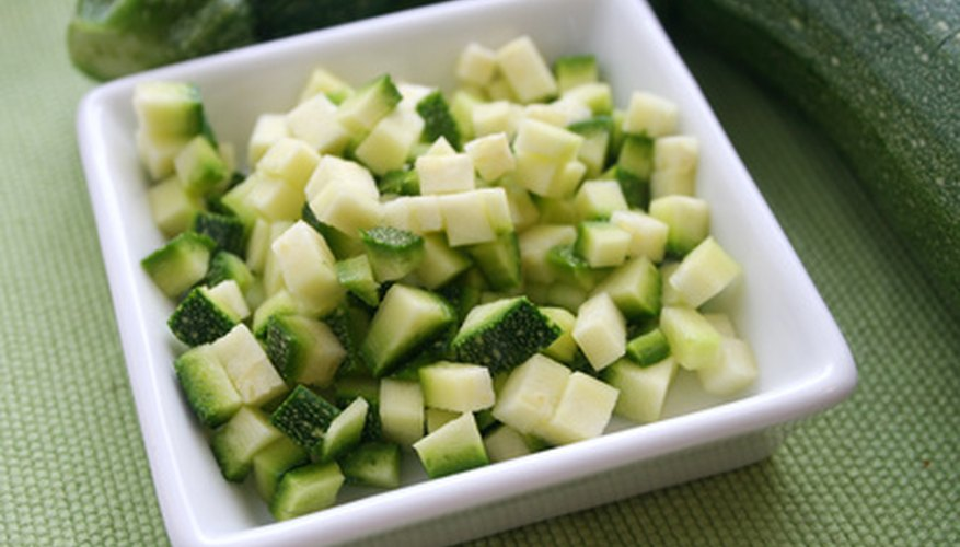 Zucchini is a popular home-grown vegetable used in cooking.