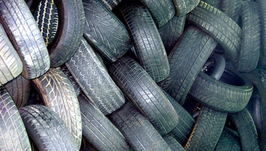 Rubber mulch is made from recycled tires.