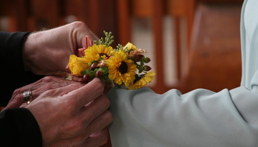 Dry out a corsage to save it indefinitely.